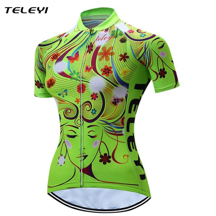 Green Cycling Bike Bicycle Clothing Clothes Women Cycling Jersey Jacket Cycling Jersey Top Bicycle Bike Shirts mallot ciclismo #Affiliate