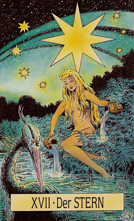The Star - Arcus Arcanum Tarot   Tarot Card Art   Retro Style   Deck Lust   Oracle Cards   Divination