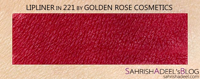 Lipliner Pencil by Golden Rose Cosmetics - Review