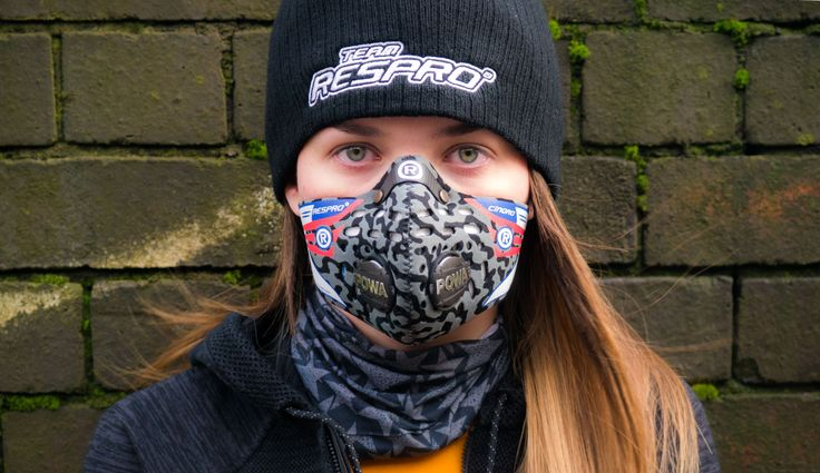 Respro® Cinqro™ Mask (Camo Black Grey) #airpollution  http://respro.com/store/product/cinqro-mask
