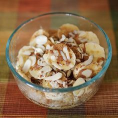 This was HEAVENLY! Baked Banana Almond Oatmeal RECIPE INSIDE and it's 21 Day Fix approved! Savor every bite because it will be gone in a matter of minutes!