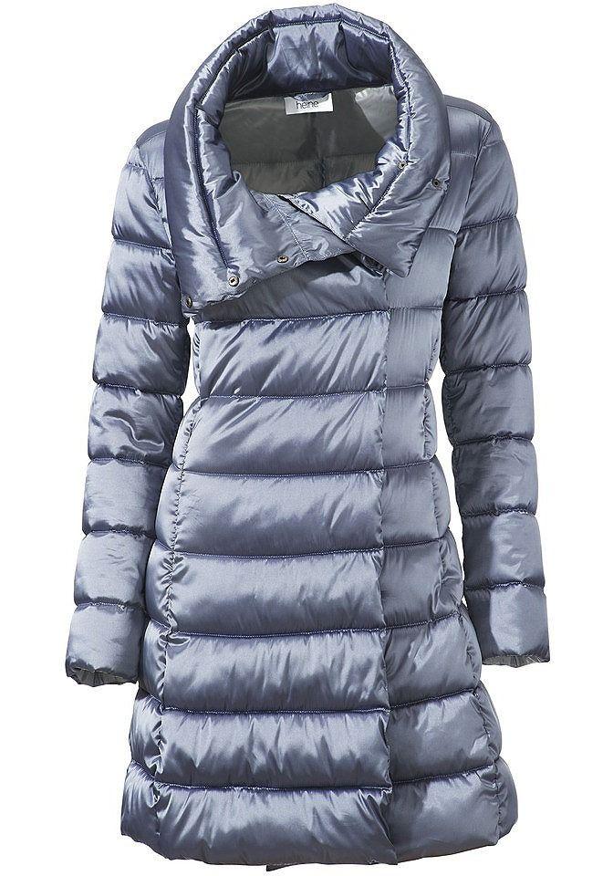 Стеганое пальто цвет: цвет голубого льда арт: 155870263 купить в Интернет магазине Quelle за 11399.00 руб - с доставкой по Москве и России