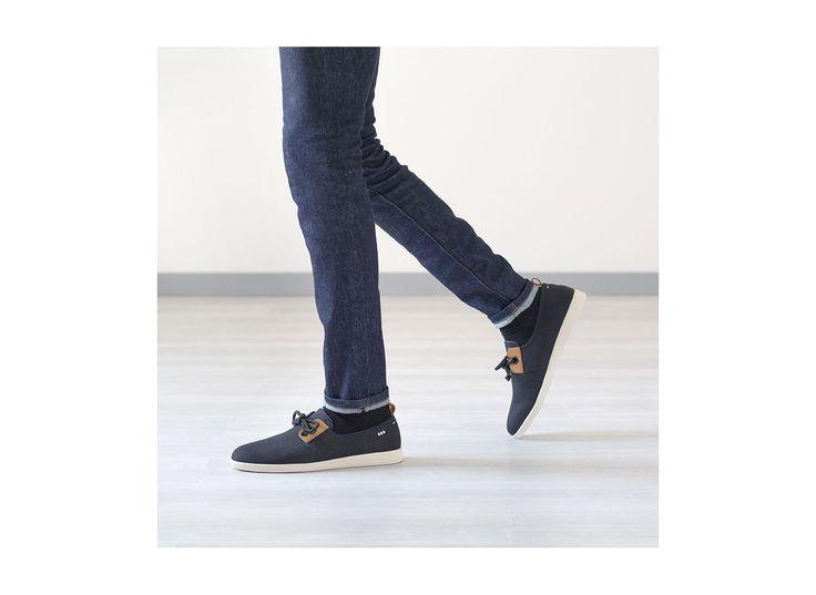 Chaussure à lacets Armistice Stone One Chevron Noir pour homme. Le modèle Armistice dans une toile plus épaisse.