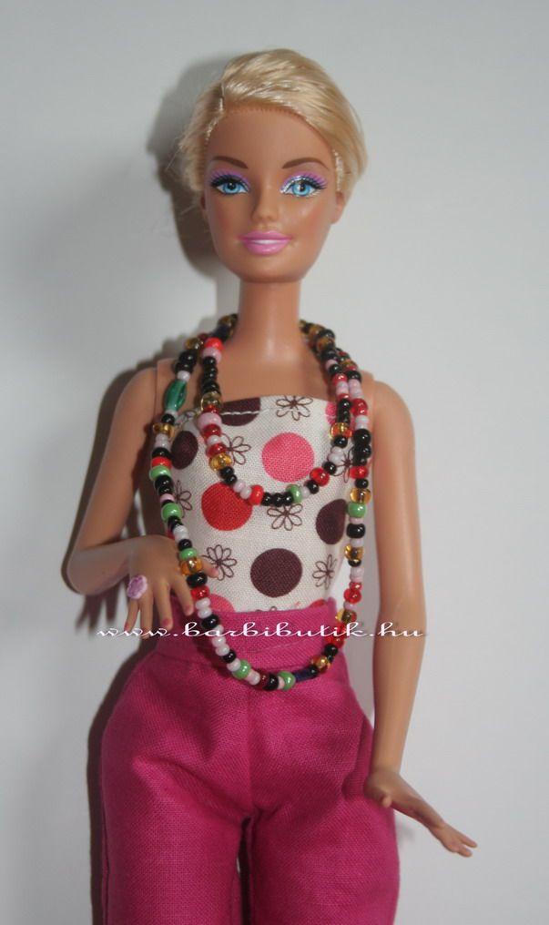 Barbie nyaklánc kásagyöngyből. / Barbie necklace
