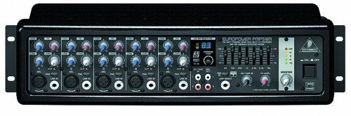 Behringer PMP518M Ultra-Compact 180-Watt 5-Channel Powered Mixer by Behringer. $199.99. The Behringer PMP518M Powered Mixer features more power and better sound in a light weight, rackmountable unit. The PMP518M contains new-generation amplifier technology that delivers 180 Watts of massive power and incredible performance. This new power amp design offers not only more power and crystal-clear sound but also weighs in lighter so you do not have to strain your bac...