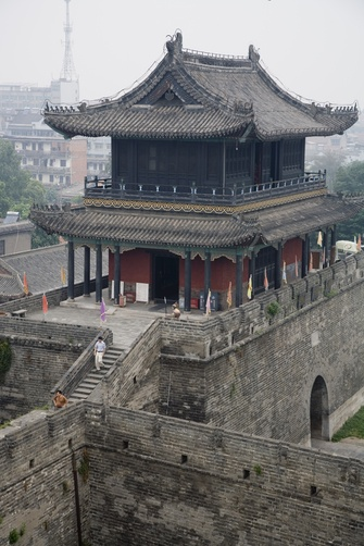 A building in the ancient walled city of Jingzhou, Hubei Province