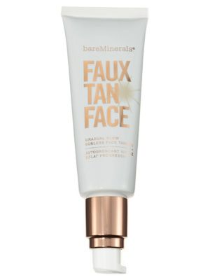 BareMinerals Faux Tan Face Gradual Glow Sunless Face Tanner warms skin instantly and noticeably bronzes complexions after just a few hours