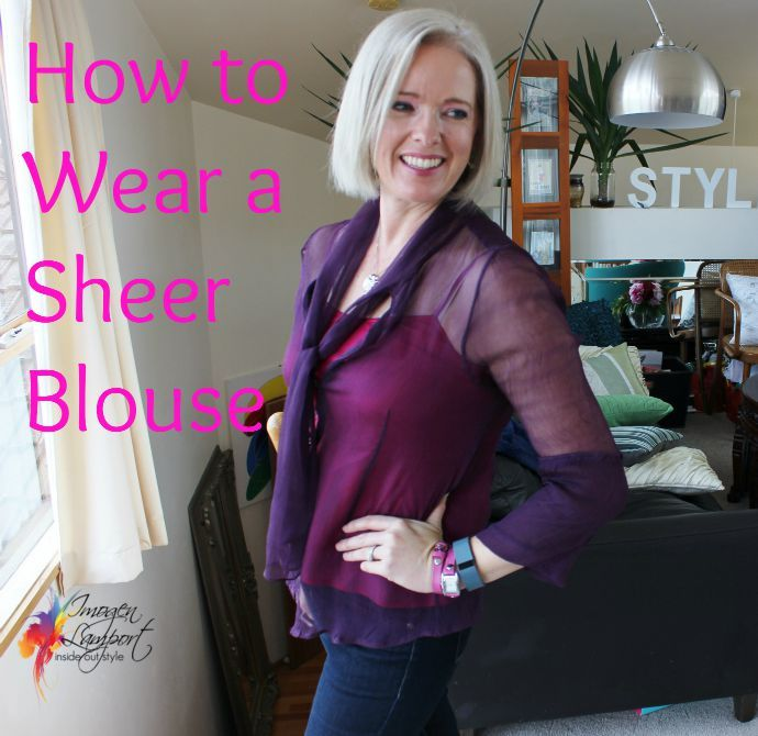 how to wear a sheer black blouse