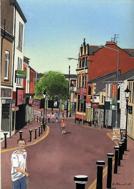 "Saatchi Online Artist Billy Almond; Painting, ""Bridge Street"" #art"