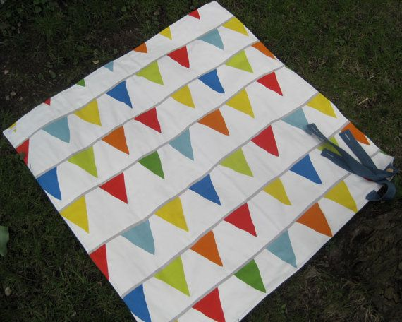 Picnic Blanket Cool Mom Picks Recommended Rainbow by SewnNatural