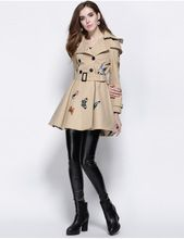 print double breasted women's long windbreaker coat,ladies long winter women's coat windbreaker jackets  Best Buy follow this link http://shopingayo.space
