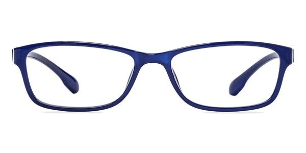 Be royally dynamic with these navy eyeglasses. This modern and majestic acetate frame comes in a semi-transparent navy blue finish throughout and features rectangular shaped lenses. Versatile and comfortable, this look is suitable for both men and women wanting a contemporary yet individualized look. @EyeBuyDirect