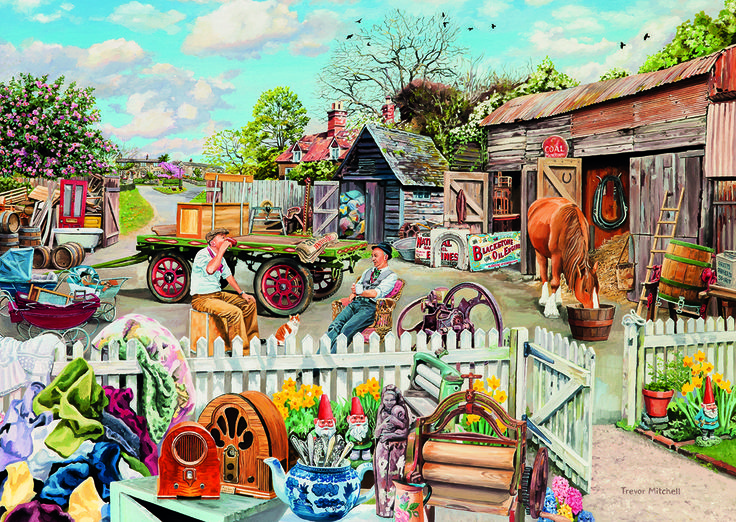 Rag & Bone 4 Puzzle #jigsaw #puzzle #Christmas #gifts #xmas #grandparents #children #hobby #fun #family #gibsons #set