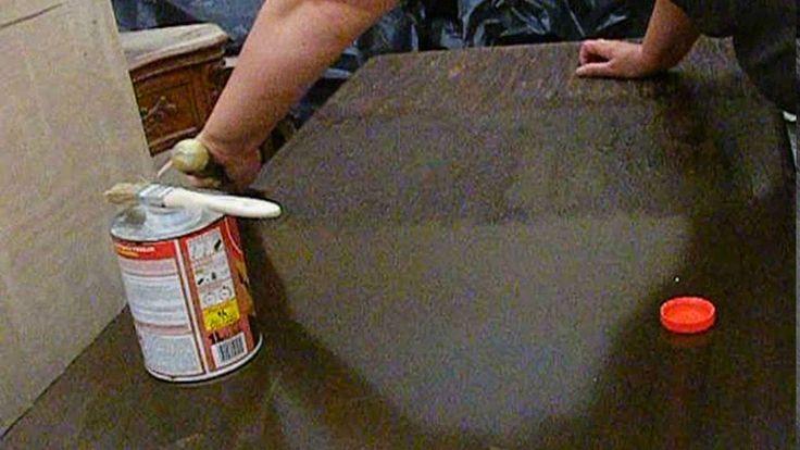 Metamorfoza biurka - 1. Usuwanie starych powłok