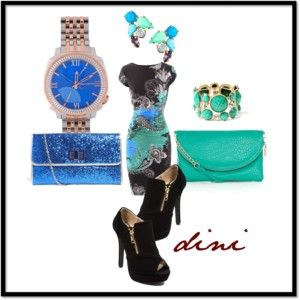 """""""blue-green"""" by dini-ph on Polyvore"""