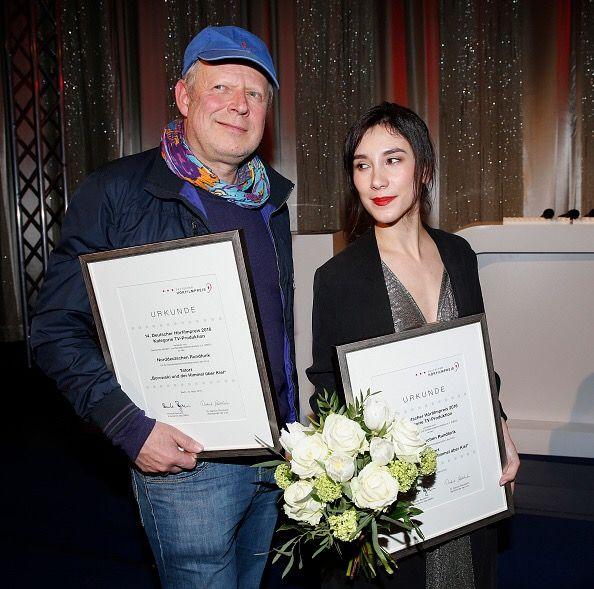 Axel Milberg and Sibel Kekilli attended the Deutscher Hoeflimpreis March 15,2016