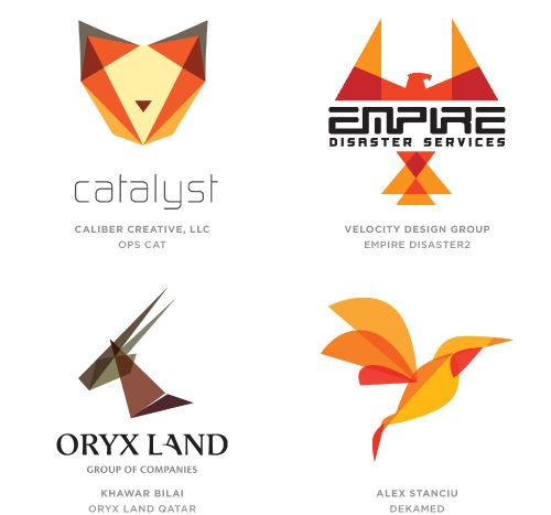 From Logo Trends For 2014 - Trendland TRANS MENAGERIE Geometric, flat, animals