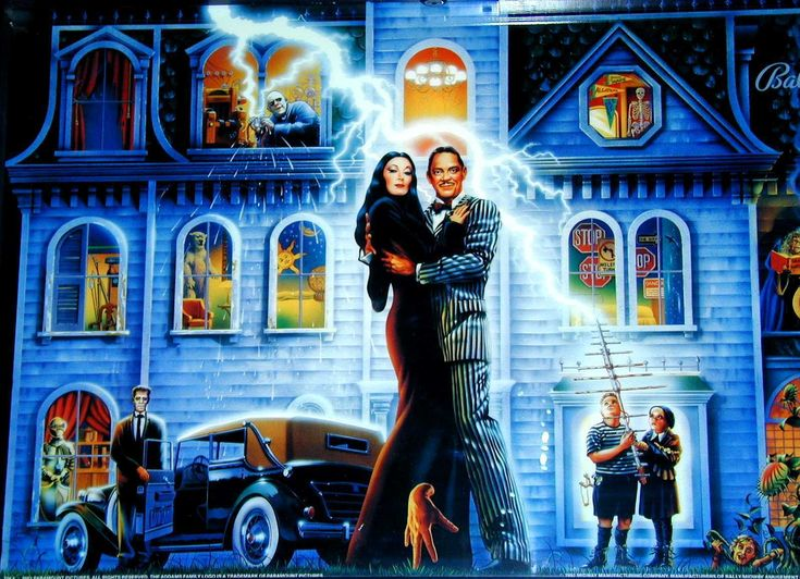Pretty swell Addams Family movie art.  I like both of these films and think they're a good example of a TV show translated well to the silver screen.