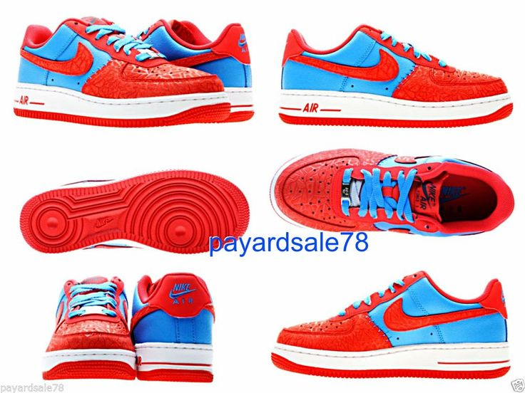 Find best value and selection for your NIKE AIR FORCE 1 LOW BLUE RED WHITE 039 82 GS YOUTH 314192 417 SIZE 5 5 HYPER search on eBay.