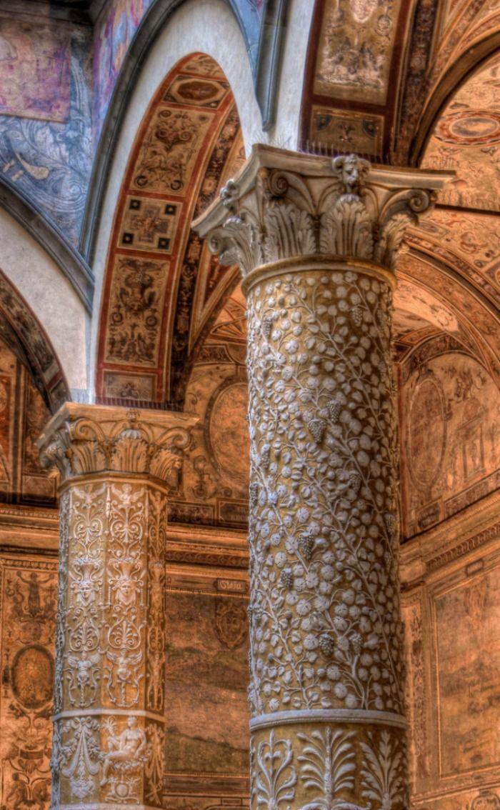 Inside the Palazzo Vecchio in Florence, Italy. Located on Piazza della Signoria.