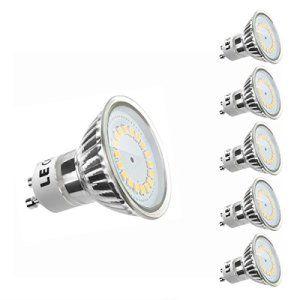 LE Lot de 5 unités, Ampoule LED GU10 MR16 3.5W, Équivalent à Ampoule Halogène 50W, 350lm, Blanc Chaud, 3000K, 120° Larges Faisceaux, Culot…