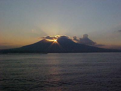 Vesuvio tramonto