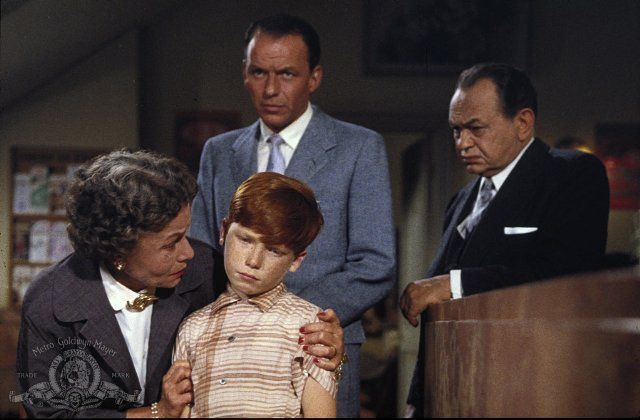 Still of Edward G. Robinson, Frank Sinatra and Thelma Ritter in, A Hole in the Head.
