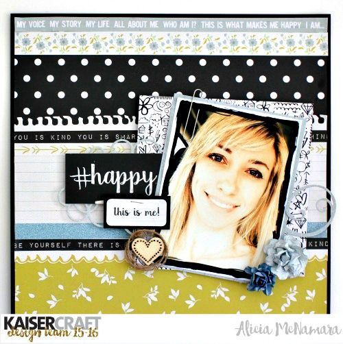 Kaisercraft #Me Layout by Alicia McNamara
