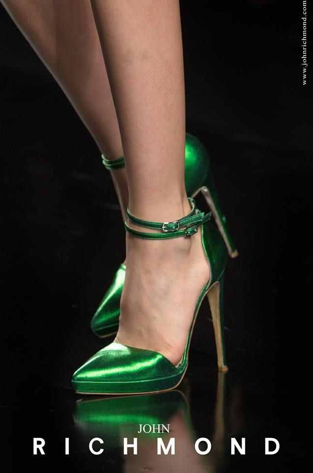 Eyes can lie, smile can divert, but shoes will always tell the truth!  #JohnRichmondOfficial #shoes #fashion #womenswear #color #green #glam #spring #summer