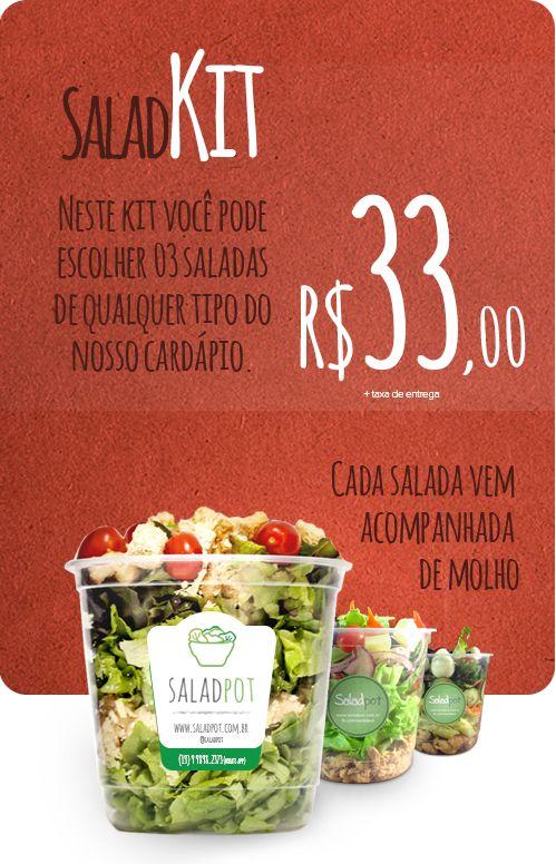 Saladpot – Salada fit, fresquinha e saudável entregue no pote – Saladpot – Opções do cardápio de saladas no pote.