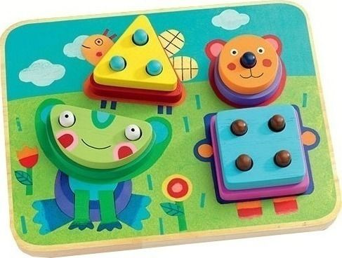 Djeco Παιχνίδι εκμάθησης αριθμών και σχημάτων