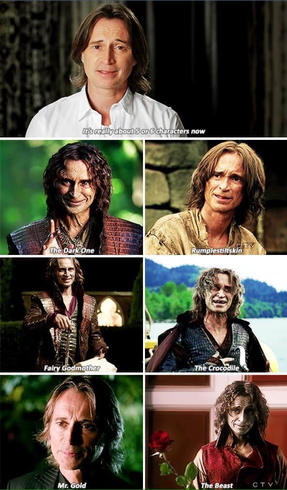 And he rocks them all!!!! Rumple Robert Carlyle Once Upon A Time