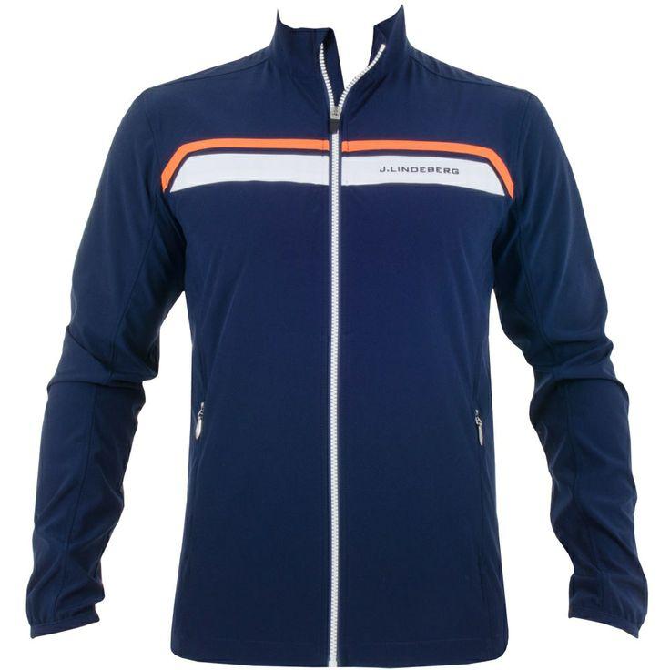J Lindeberg Stretch Jacket Soft Shell Navy Purple #golf #fashion #trendygolf #jlindeberg