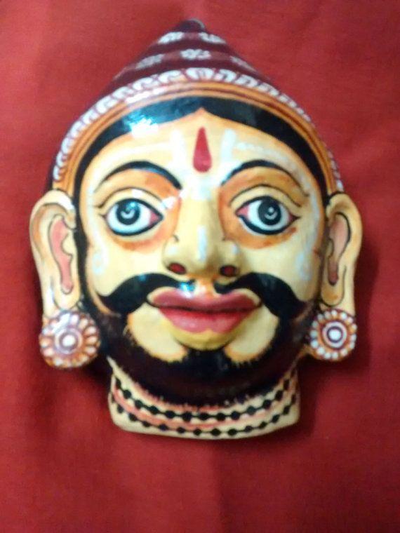 A beautiful pattachitra papier mache mask by PattachitraNet