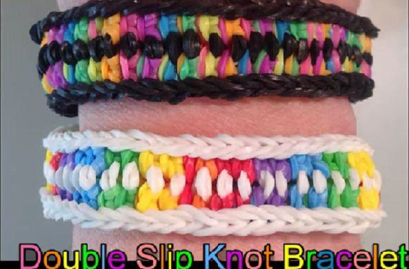 New Monster Tail Bracelets - The Double Slip Knot - Loom n Bands - Pure Rainbow Loom Bliss! https://www.loomnbands.com