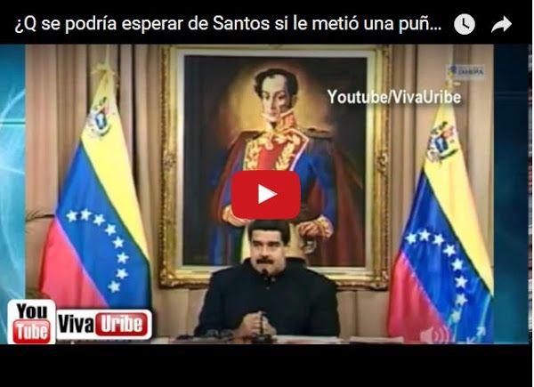 Maduro dice que Juan Manuel Santos le metió una puñalada a Álvaro Uribe