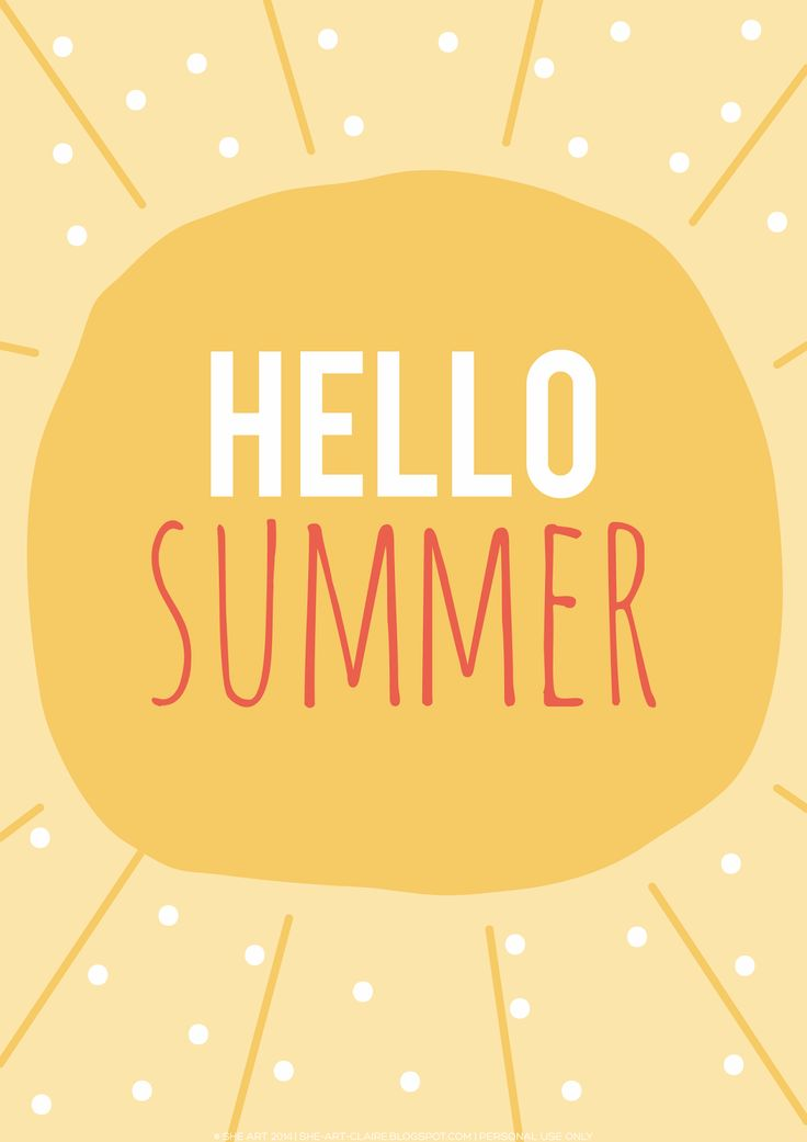 Hello Summer! {free printable} | She art