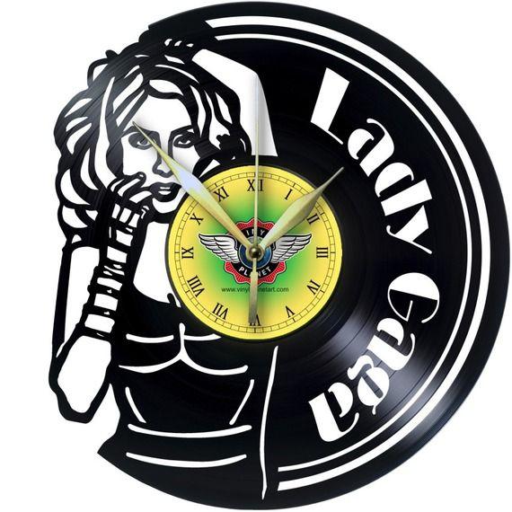 Horloge Vinyle décoration LADY GAGA