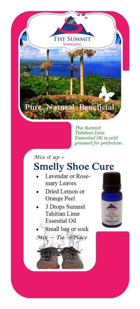 Smelly Shoe Fix - Freshen your shoes with this Essential Oil Recipe from The Summit.