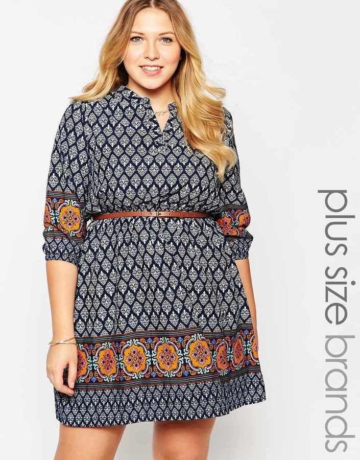 Plus Size Dress With Belt