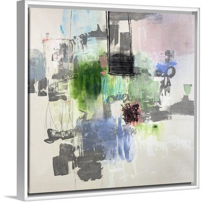 Orren Ellis Ring My Bell Painting On Canvas Format White Floater Frame Size 21 7 H X 21 7 W X 1 75 D In 2020 Painting Ring My Bell Canvas