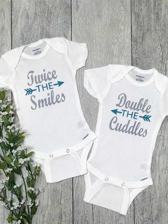 Baby Shower Gift Twinning Coming Home Outfit Twins Baby Onesies\u00ae Newborn Outfit Set of 2 Best Friends Babies Baby Bodysuit