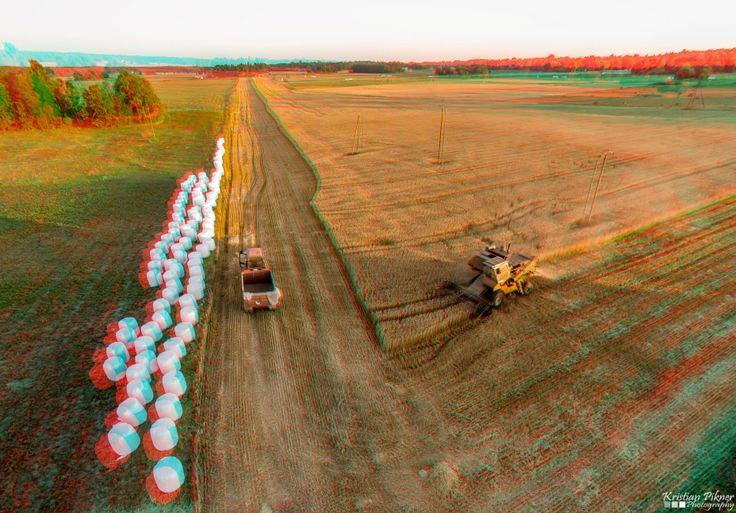 Harvesting 3D Anaglyph photo (Red-Cyan)