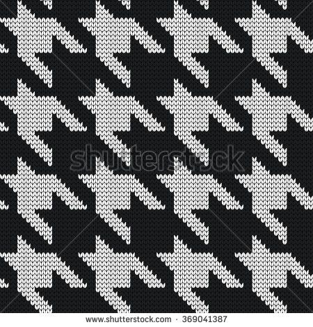Knitted seamless pattern hounds-tooth - stock vector