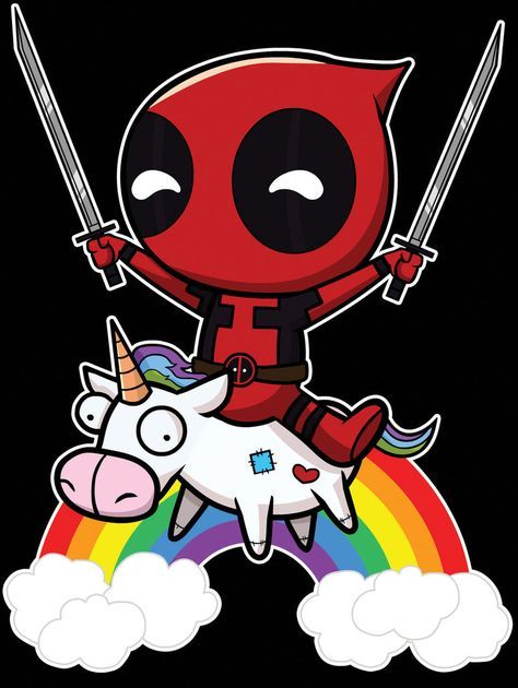 Riding a Unicorn #deadpool