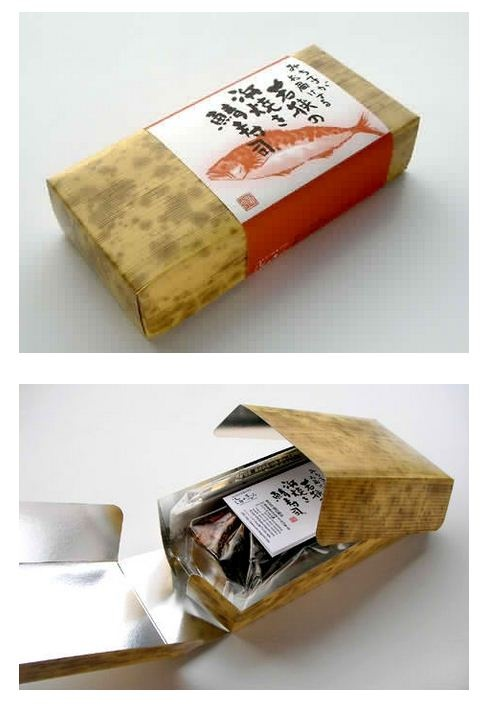 Bamboo sheath gone boxy – imprinted texture on a lunch box by Umi no Megumi. #Japan #Packaging #Food