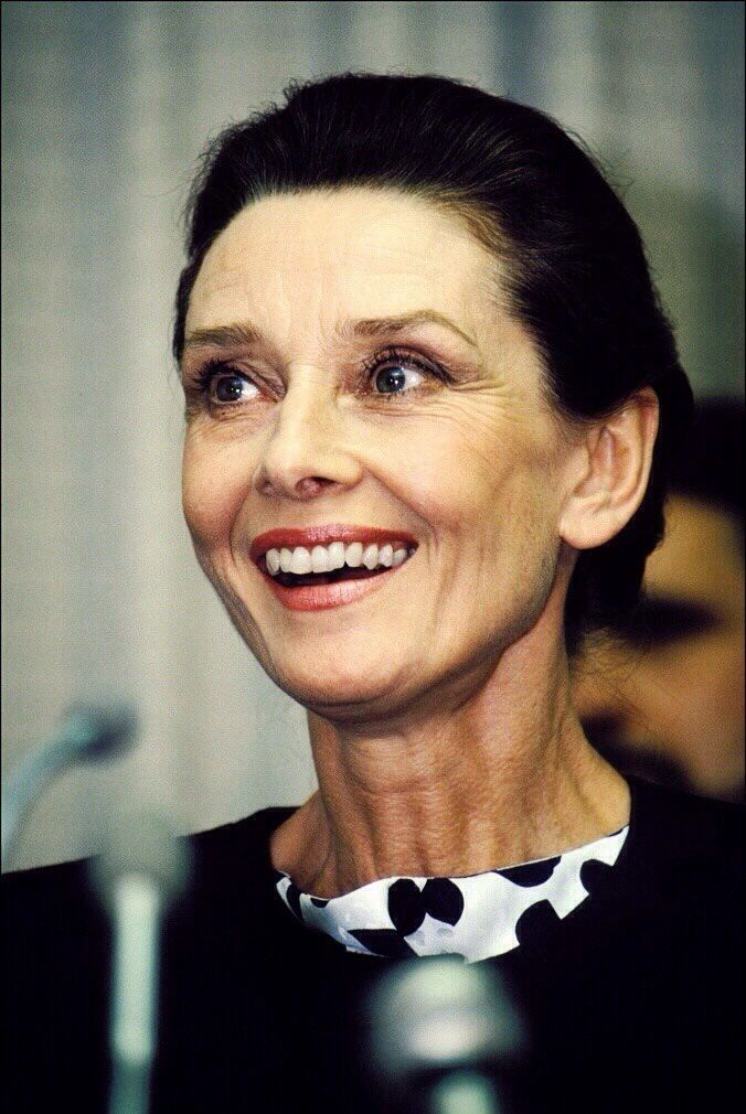 Audrey hepburn at a press conference for the unicef in the for Audrey hepburn pictures to buy