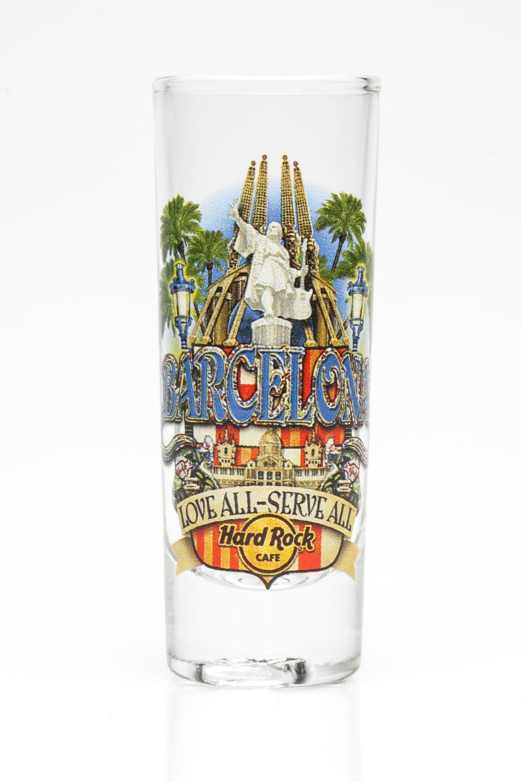 Barcelona shot glass