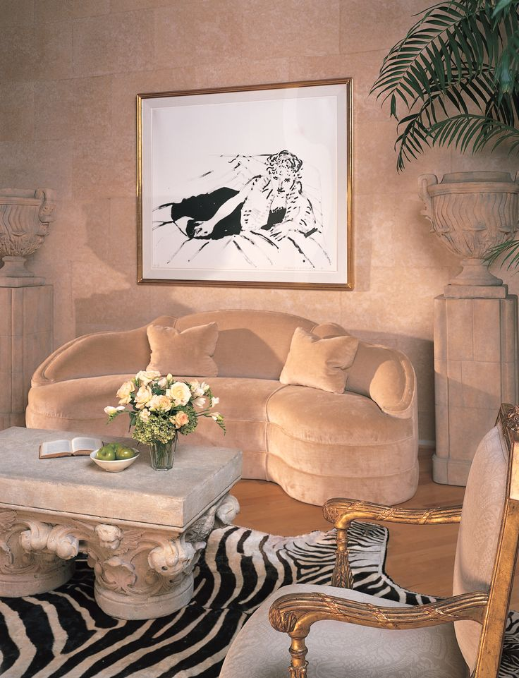 Michael Taylor Was Inspired By Syrie Maugham When He Designed This Sofa And Sitting Room