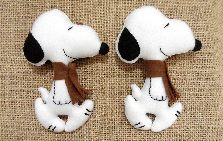 Prendedores de Cortinas do Snoopy | Artes da Lelê | Elo7